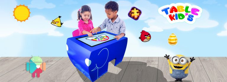 Touch screen table play kids corner